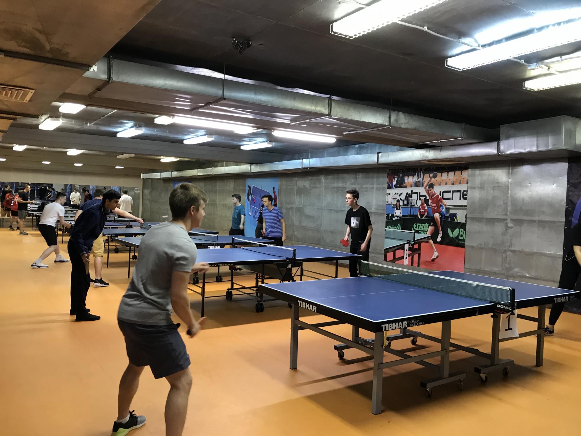 Зал игры в настольный теннис ул.Стромынка20